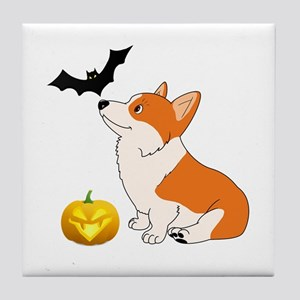 Halloween Corgi Tile Coaster