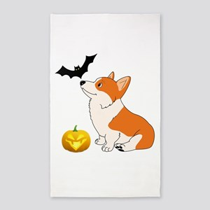 Halloween Corgi Area Rug