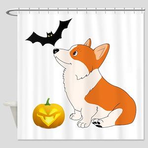 Halloween Corgi Shower Curtain