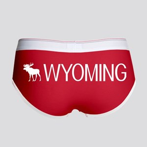 Wyoming: Moose (White) Women's Boy Brief