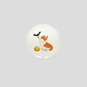 Halloween Corgi Mini Button