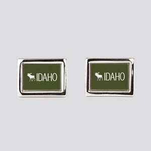 Idaho: Moose (Mountain Green Rectangular Cufflinks
