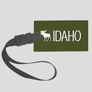 Idaho: Moose (Mountain Green) Large Luggage Tag