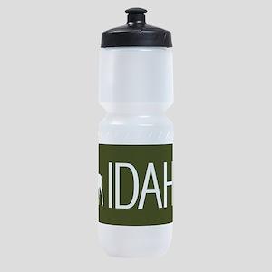 Idaho: Moose (Mountain Green) Sports Bottle