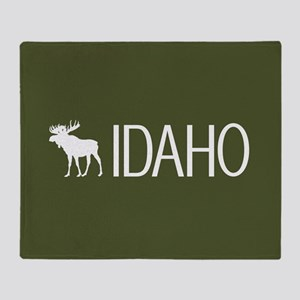 Idaho: Moose (Mountain Green) Throw Blanket