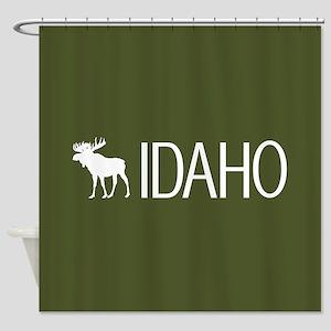 Idaho: Moose (Mountain Green) Shower Curtain
