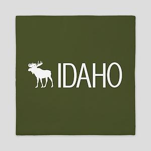 Idaho: Moose (Mountain Green) Queen Duvet
