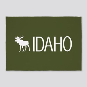 Idaho: Moose (Mountain Green) 5'x7'Area Rug