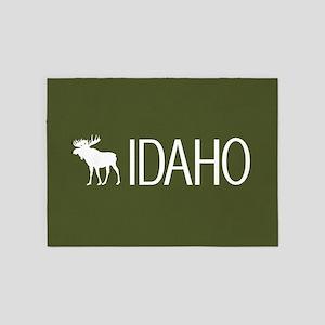 Idaho: Moose (Mountain Green) 5'x7'Area Rug