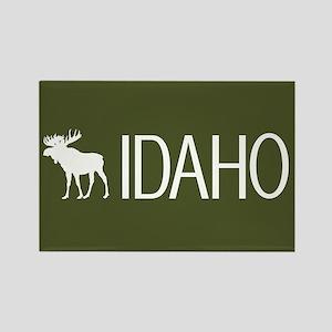 Idaho: Moose (Mountain Green) Rectangle Magnet
