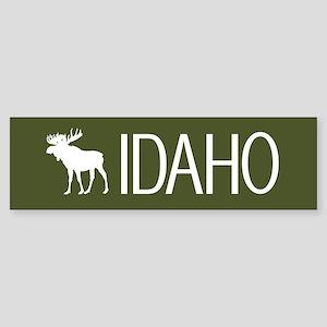Idaho: Moose (Mountain Green) Sticker (Bumper)