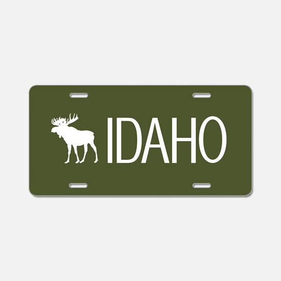 Idaho: Moose (Mountain Gree Aluminum License Plate