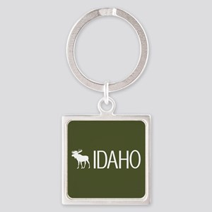 Idaho: Moose (Mountain Green) Square Keychain