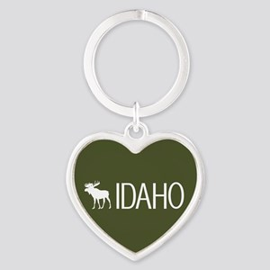 Idaho: Moose (Mountain Green) Heart Keychain