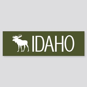 Idaho: Moose (Mountain Green) Sticker (Bumper)