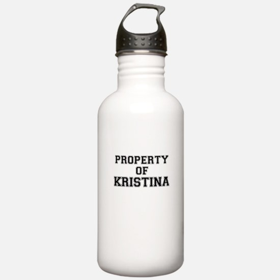Property of KRISTINA Sports Water Bottle