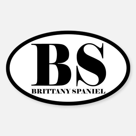 BS Abbreviation Brittany Spaniel Decal