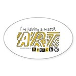 Major Art Attack 3 Oval Sticker