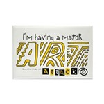 Major Art Attack 3 Rectangle Magnet
