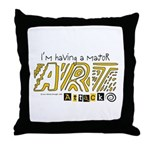 Major Art Attack 3 Throw Pillow
