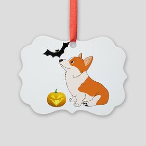 Halloween Corgi Ornament