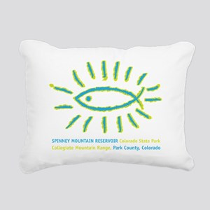 Colorado Fishing, Spinne Rectangular Canvas Pillow