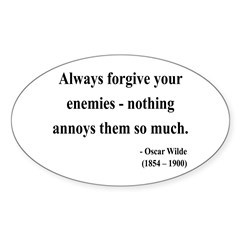 Oscar Wilde 10 Oval Decal