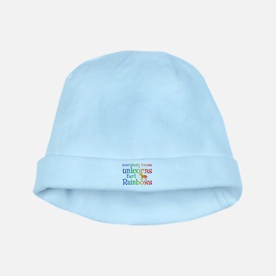Unicorns far Rainbows baby hat