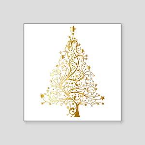 Gold Christmas Tree Sticker