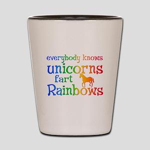 Unicorns far Rainbows Shot Glass