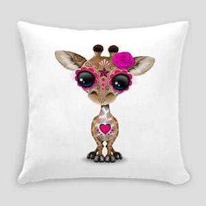 Pink Day of the Dead Sugar Skull Baby Giraffe Ever