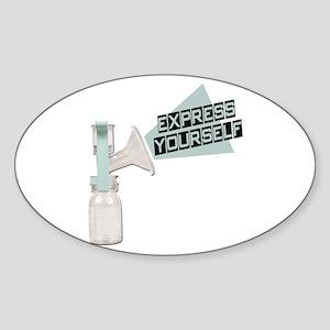 Express Yourself Breastfeeding Oval Sticker