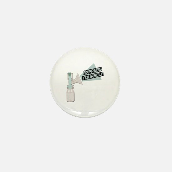 Express Yourself Breastfeeding Mini Button