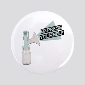 "Express Yourself Breastfeeding 3.5"" Button"