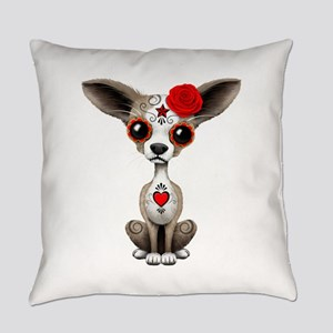 Red Day of the Dead Sugar Skull Chihuahua Puppy Ev