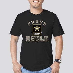 Proud U.S. Army Uncle Men's Fitted T-Shirt (dark)