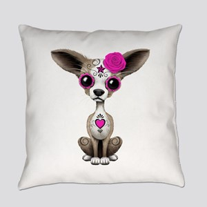 Pink Day of the Dead Sugar Skull Chihuahua Puppy E