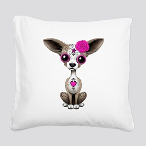 Pink Day of the Dead Sugar Skull Chihuahua Puppy S