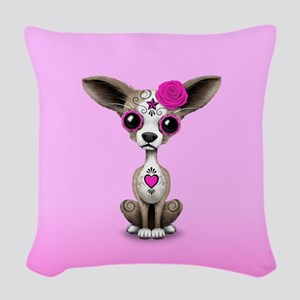 Pink Day of the Dead Sugar Skull Chihuahua Puppy W