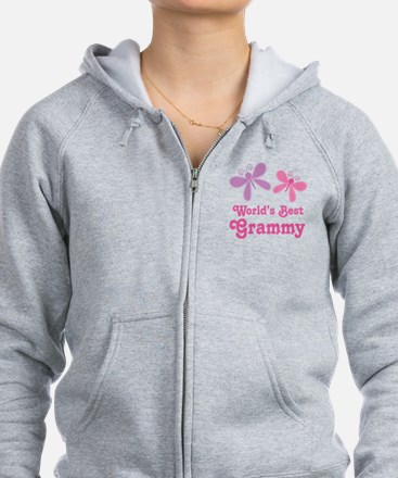 Cute The world%27s best grandma Zip Hoodie
