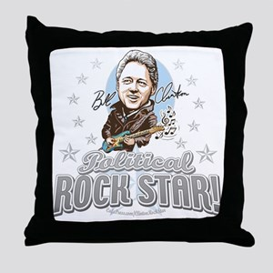 Bill Clinton Rocks Throw Pillow