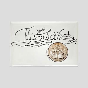 Elizabeth I Signature Rectangle Magnet