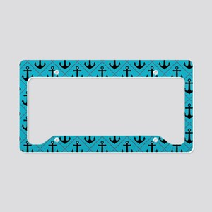 Black Anchor on Turquoise Nautical Pattern License