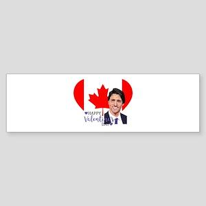 justin trudeau valentine Bumper Sticker