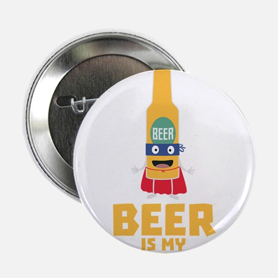 "Beer is my superpower Cync7 2.25"" Button"
