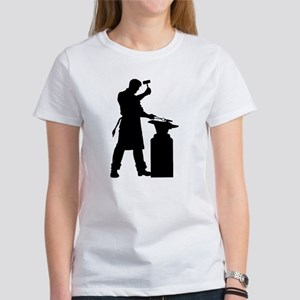 Blacksmith Silhouette Women's T-Shirt