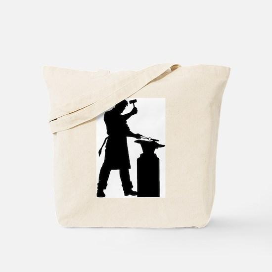 Blacksmith Silhouette Tote Bag