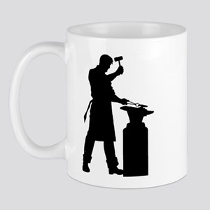 Blacksmith Silhouette Mug