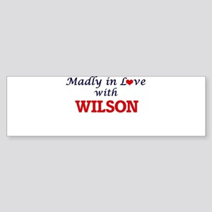 Madly in love with Wilson Bumper Sticker