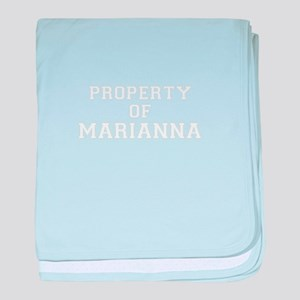 Property of MARIANNA baby blanket